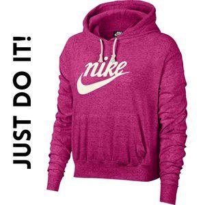 NEW Nike WM Sportswear Gym Vintage Pink Hoodie, XS